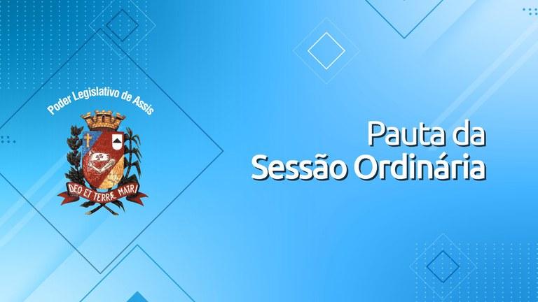 Confira a Pauta da 35ª Sessão Ordinária da Câmara Municipal