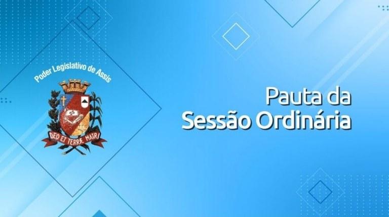 Confira a pauta da 36ª Sessão Ordinária da Câmara Municipal de Assis